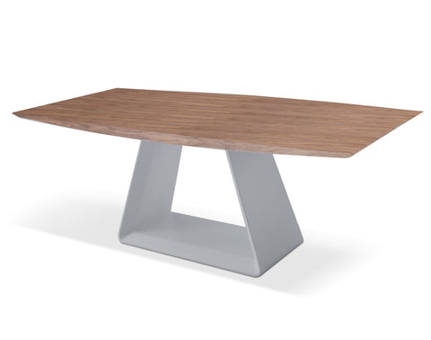 MESA DE COMEDOR ELEMENTS - Walnut y Plata