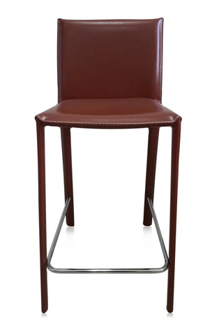 SILLA DE BAR MANHATTAN - Marron Rojizo