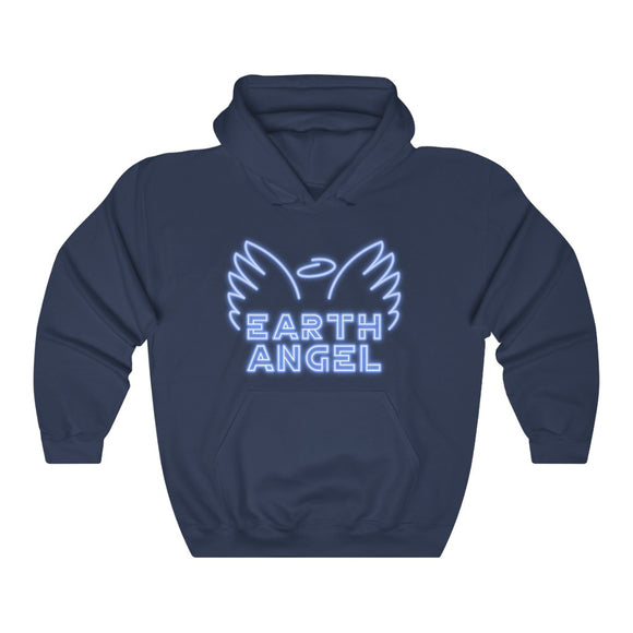 Earth Angel hoodie-earth angel neon sign-gift of praise-positive-gratitude-Spiritual being having a human experience