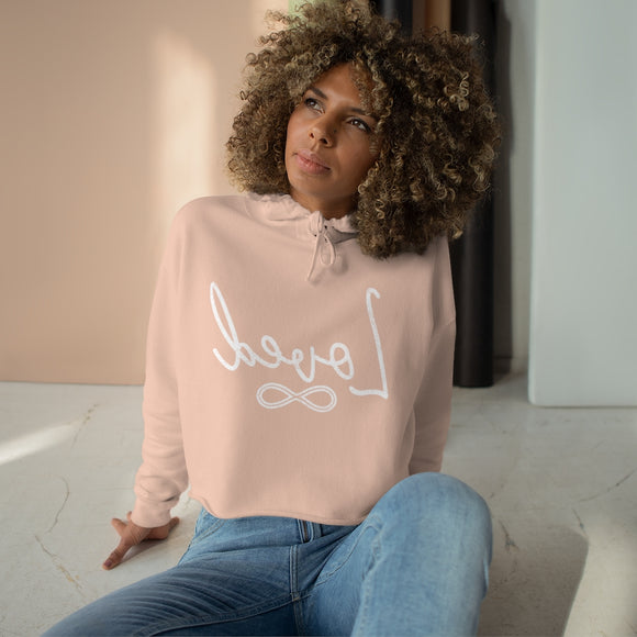 Vintage Loved mirror Image Crop Hoodie-self love sweatshirt-You are Loved