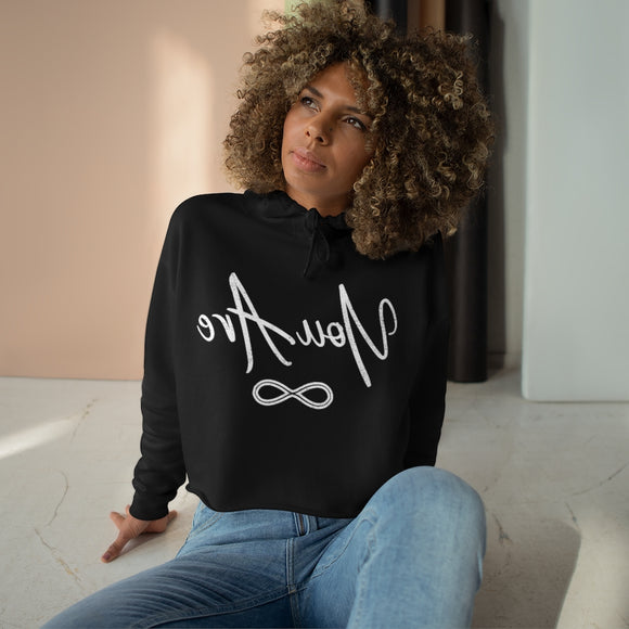 Vintage You Are mirror Image Crop Hoodie-self love sweatshirt-You Are!