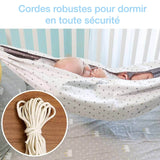 Hamac bébé convertible attacher / balancer Cocon beige - 0 à 36 mois - Bébé Culture