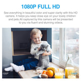 INQMEGA 1080P HD Cloud Wifi Camera Intelligent Auto Tracking Cat Kitty IP Camera Wireless Home Security Camera Night Vision