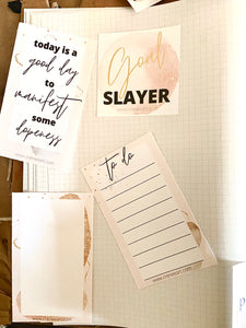 Planner and Journal Cards Printables Theme: Transcend