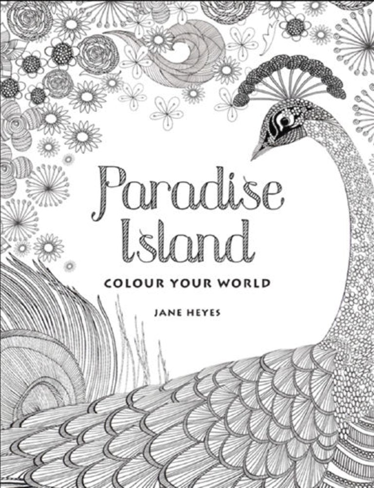 Paradise Island Coloring Book with Gel Pens