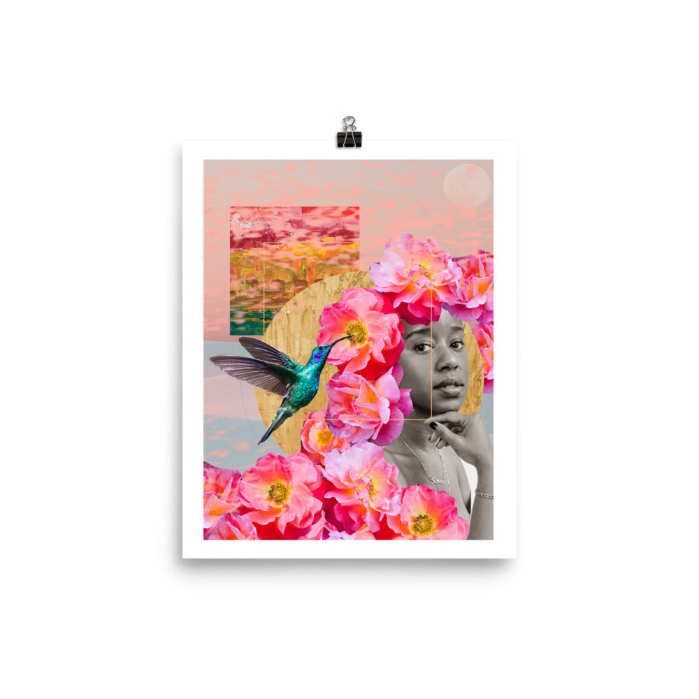 Digital Collage Poster Print: