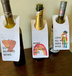Wine Gift Tags set of 3