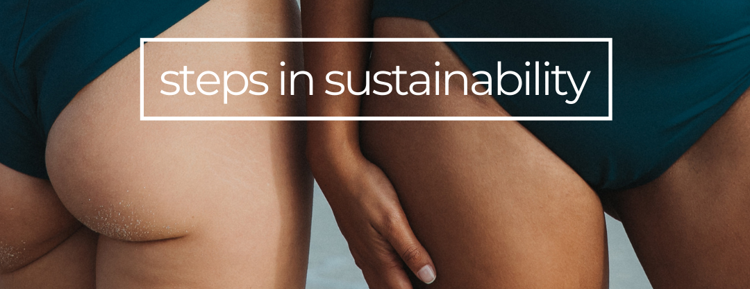 Our efforts in sustainable eco design, recycled plastic ECONYL swimwear and activewear