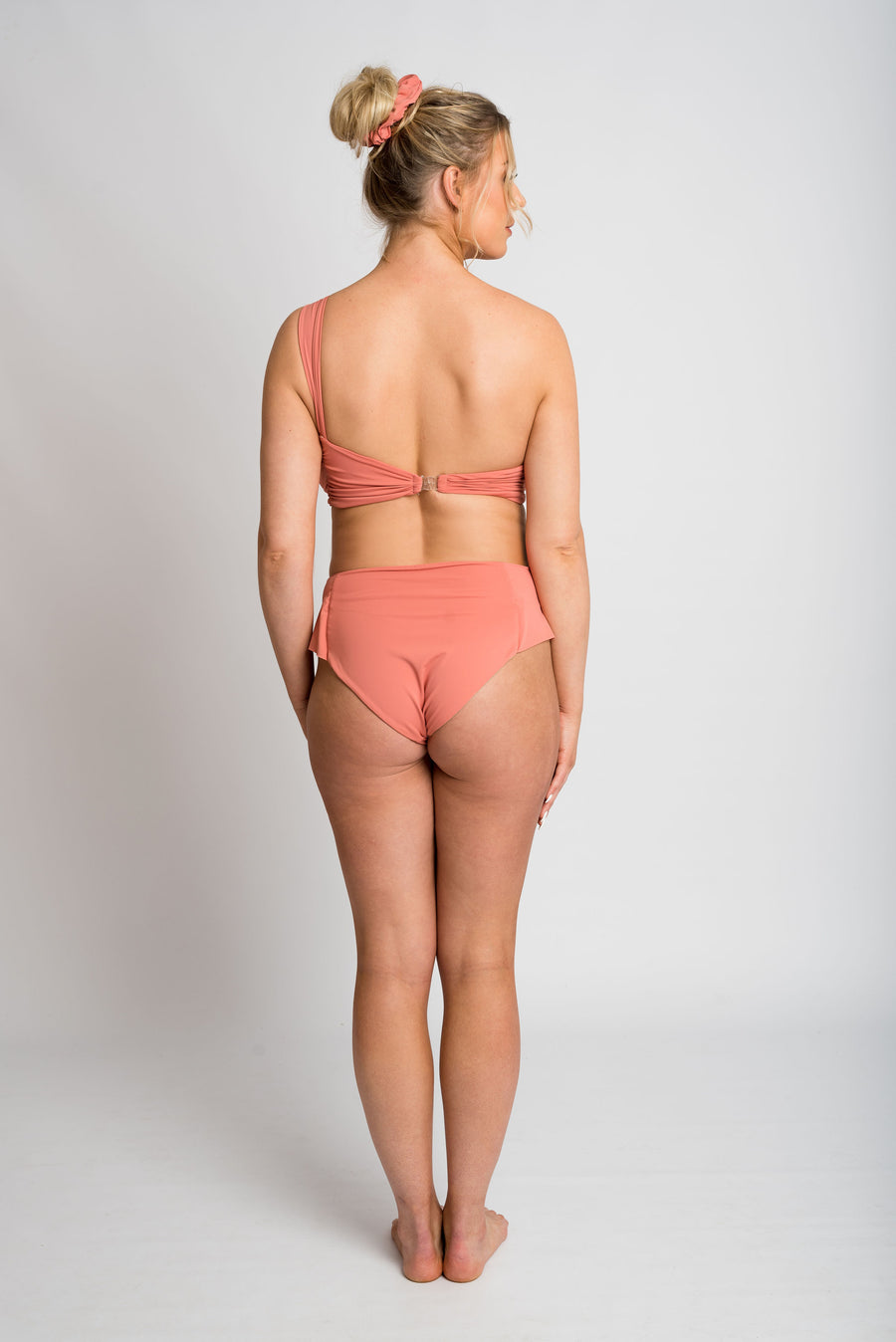 Ethical and sustainable swimwear for women xxs to plus size, recycled ECONYL cute frill bikini bottom ethically made in Australia.