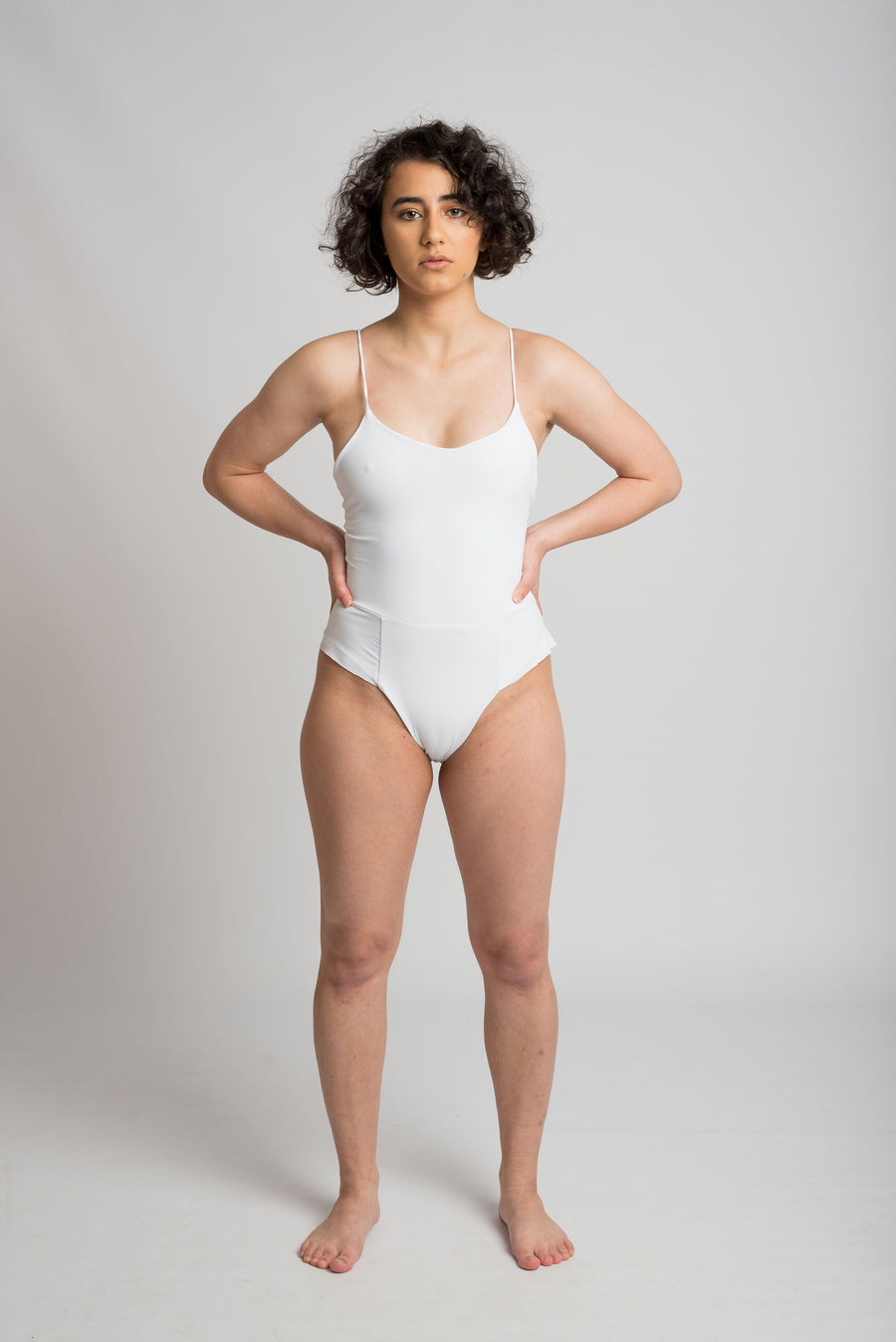 Ethical and sustainable swimwear for women xxs to plus size, recycled ECONYL cute frill onepiece ethically made in Australia.
