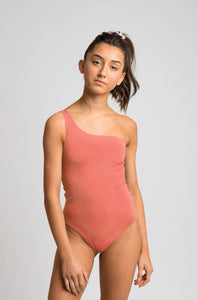 Frond Onepiece -Rolling Stone Print/Seashell Pink