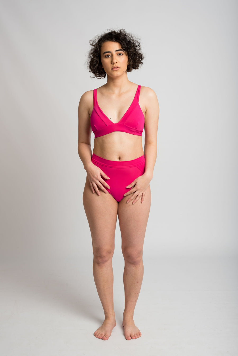 Ethical and sustainable swimwear for women xxs to plus size, recycled ECONYL bikini top ethically made in Australia.