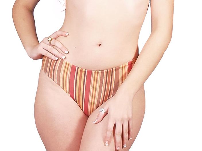 Ethical and sustainable swimwear for women xxs to plus size, recycled ECONYL bikini bottom ethically made in Australia.