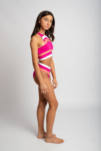 Bloom Bikini Top - Hot Pink