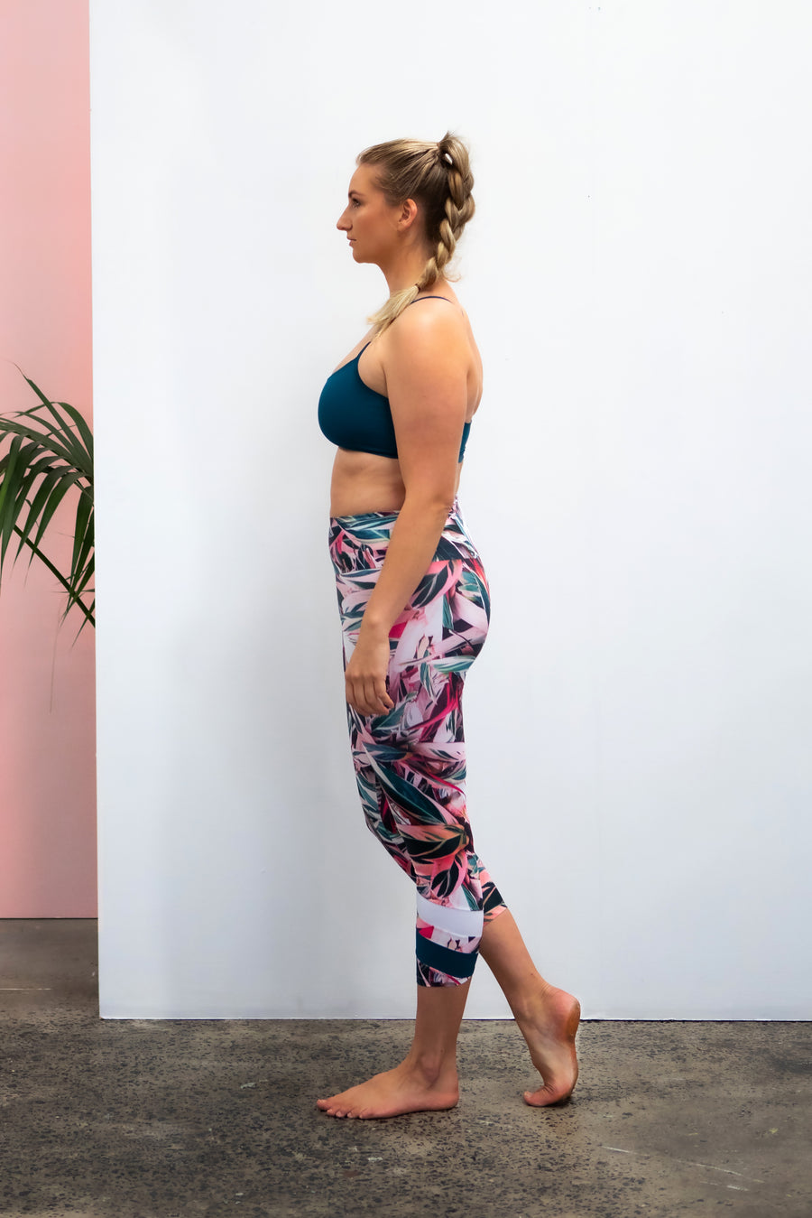 Ethical and sustainable activewear, yogawear for women xxs to plus size, recycled ECONYL hot pink crop leggings ethically made in Australia.