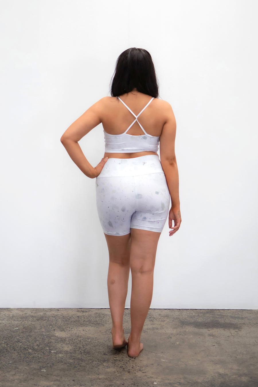 Ethical and sustainable activewear, yogawear for women xxs to plus size, recycled ECONYL bike shorts, yoga shorts ethically made in Australia.