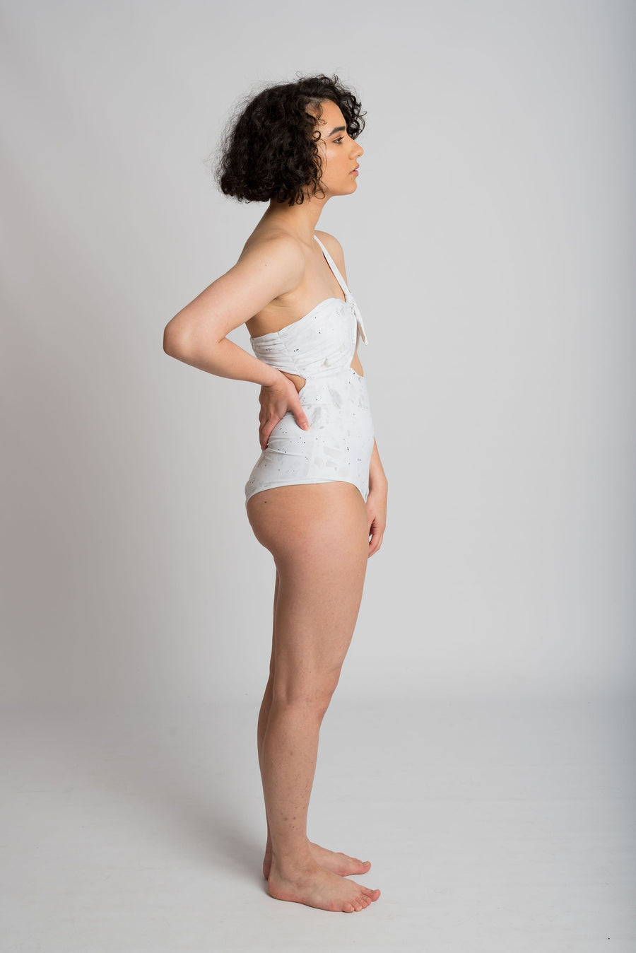 Ethical and sustainable swimwear for women xxs to plus size, recycled ECONYL one shoulder onepiece ethically made in Australia.