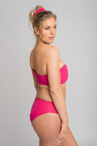 Tyra Bikini Bottom Full Cut -Never Never/Hot Pink