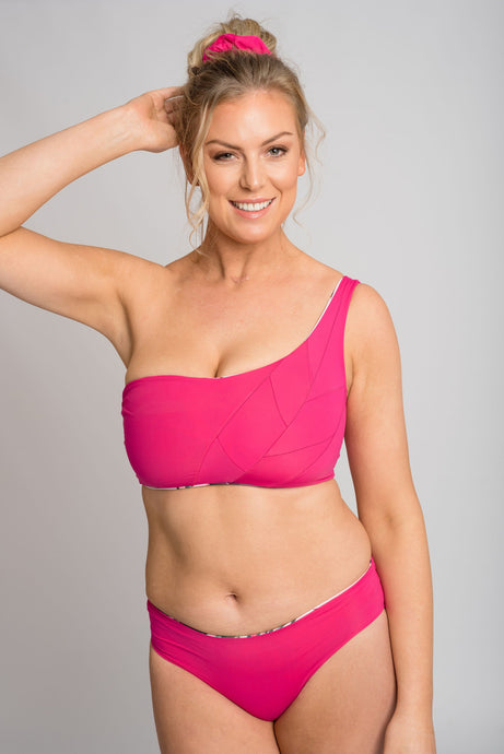 Tyra Bikini Top -Never Never/Hot Pink