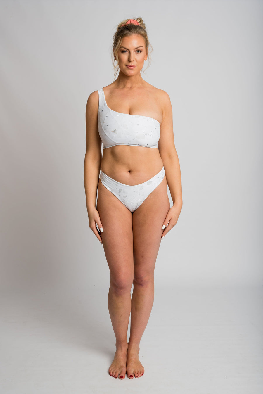Ethical and sustainable swimwear for women xxs to plus size, recycled ECONYL reversible cheeky bikini bottom ethically made in Australia.