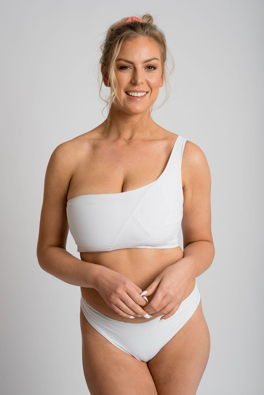 Ethical and sustainable swimwear for women xxs to plus size, recycled ECONYL reversible bikini bottom ethically made in Australia.