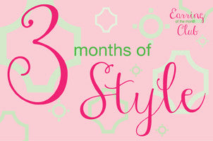 3 Month Earring of the Month Club Membership