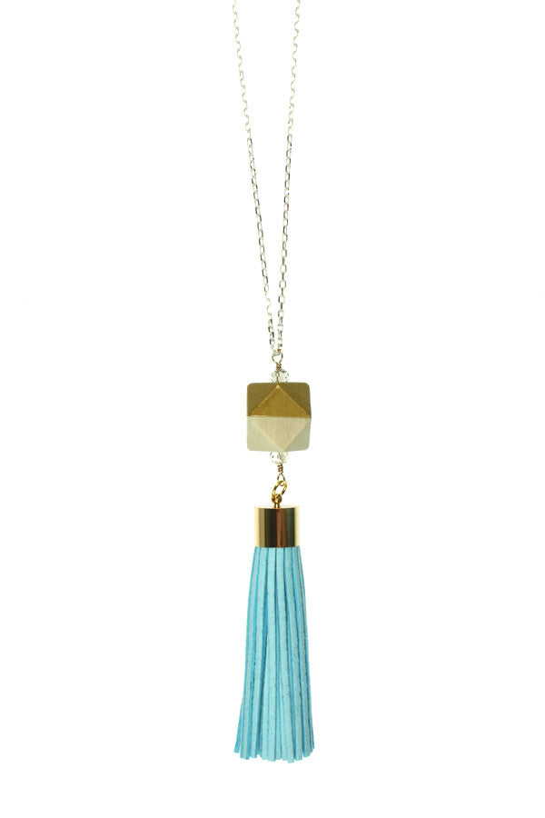 Blue Tassel, Gold Wood