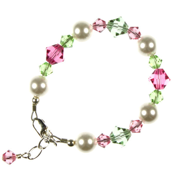 Pink & Green Crystals & Pearls, Infant