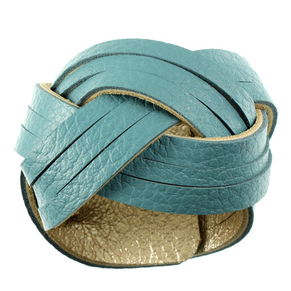 Cuff, Blue & Metallic
