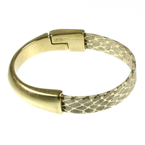 Light Gold Leather, Bangle
