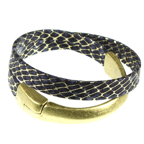 Navy Cuff, Double Wrap