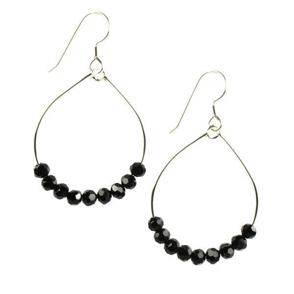 Silver Loops, Black Crystal