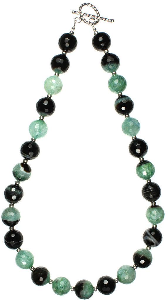 Agate, Black & Mint