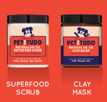 Load image into Gallery viewer, NATURAL GO-GO PET SPA Kit - Superfood Scrub (90G) +  Clay Mask (90G) + PETITUDO Goro Tote Bag