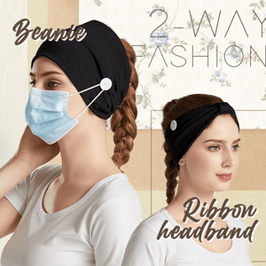 Wishy™: Vintage Cross HairBands Button Turban
