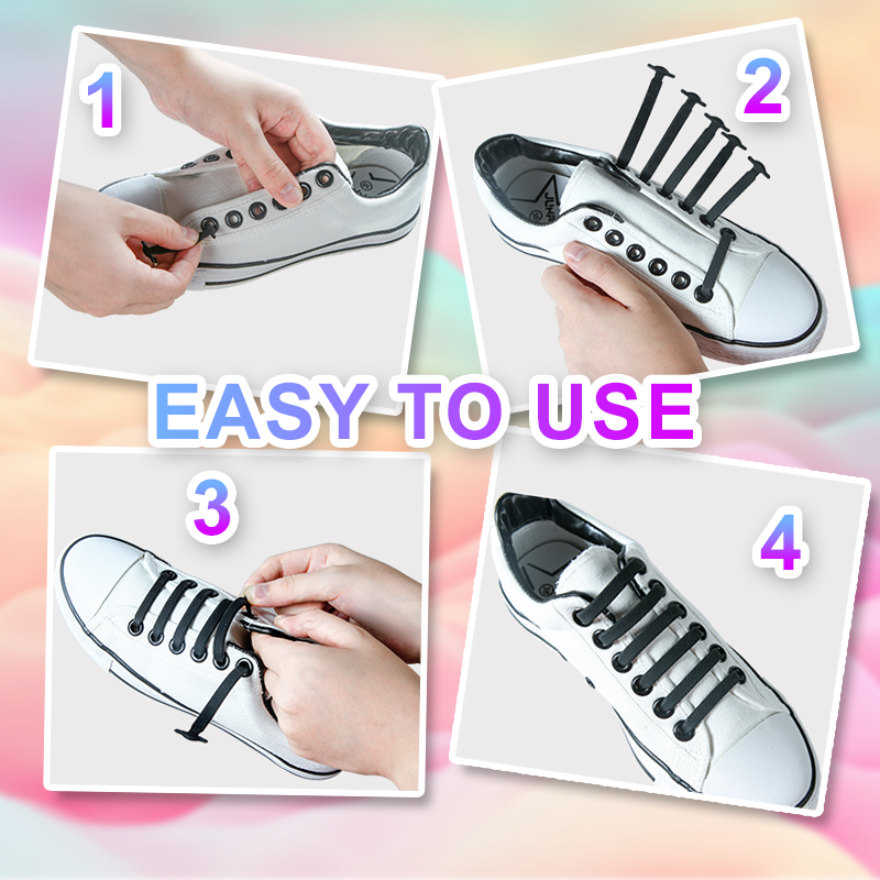 EasyLacey™: No-Tie Shoelaces - One Size Fits All