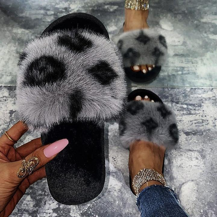 Lola™:  Winter Women Faux-Fur Slides - LIMITED EDITION