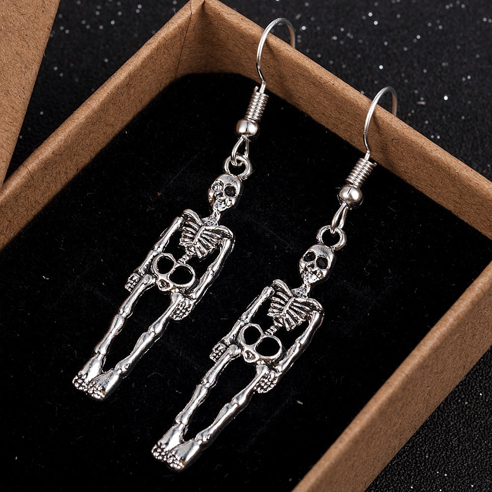 CorpseBrides™: Halloween Skull Dangle Earrings