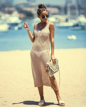 TOPAS™: Sleeveless Beach Maxi Dress