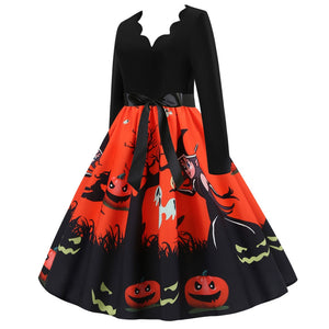 SIA™: Halloween Housewife Evening Party Dress