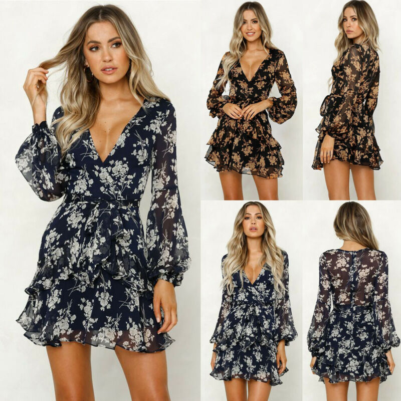 OvaChoice™: Floral V Neck  Sundress