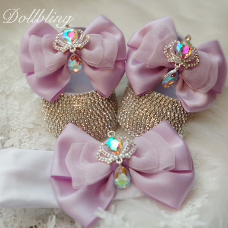 Gorgeous Bowknot Royal Crown Baby Shoes