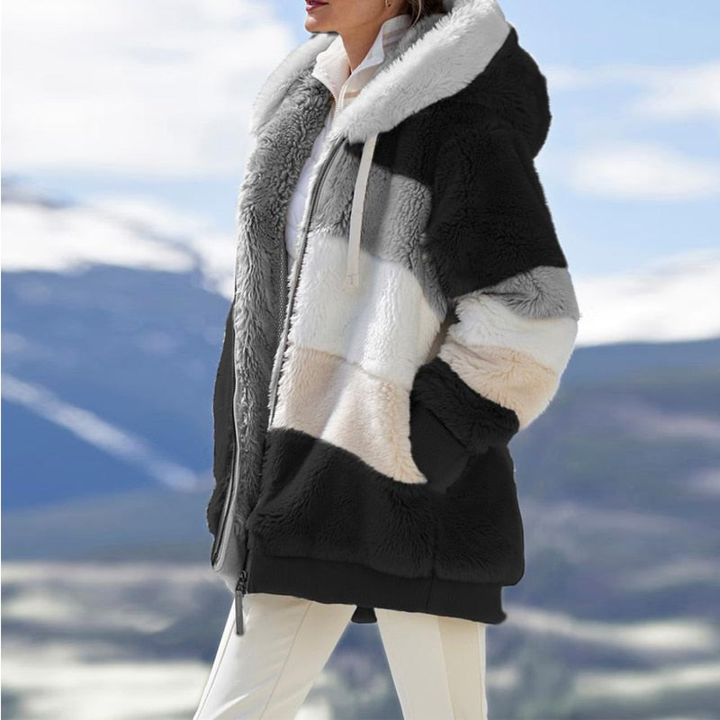 LINDA™: Winter Women's Hooded Zipper Coat