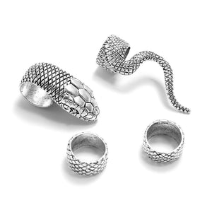 Sneak™: Midi Ring Set Vintage Punk Metal