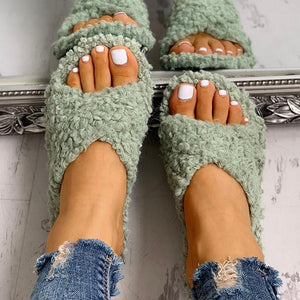 ZaPa™:  Fluffy Crisscross Ladies Sandals