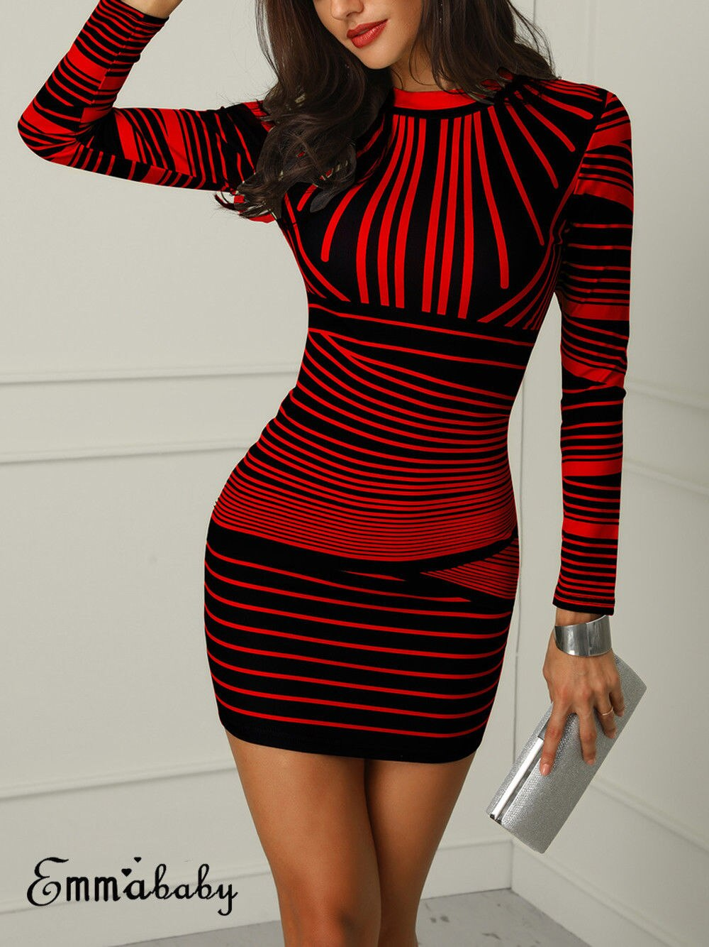 EmmaBaby™- Striped Bodycon Dress