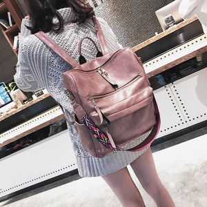 Retro Large capacity Backpack Women