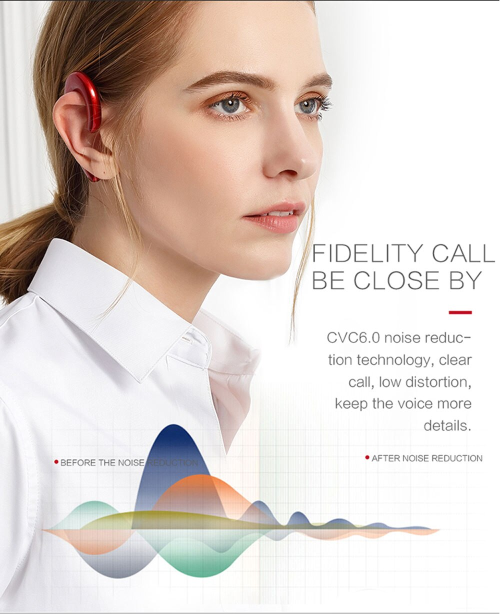 ModernSound™:  Bone Conduction Hook Earphone