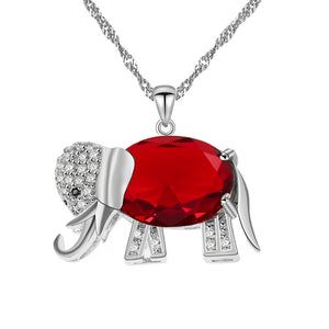 Elephant Galaxy Crystal Necklace Gift Set