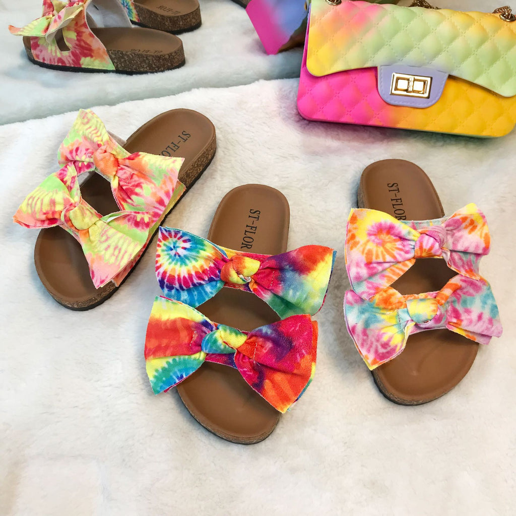 PopDaisy™: Colorful Print Bow Slippers